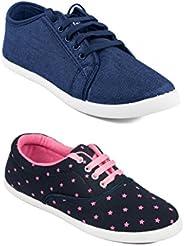 ASIAN Women's Casual Shoes (Set of 2 Pa