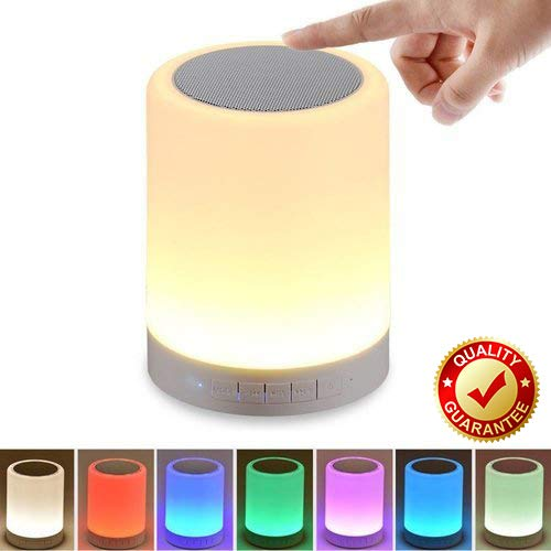 B37® LED Touch Lamp Bluetooth Speaker with Different Lighting Modes - White