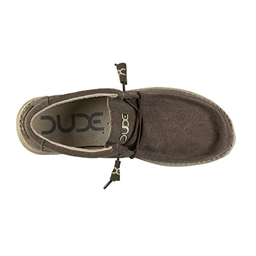 Dude Shoes Mens Wally Classic Wenge Braun