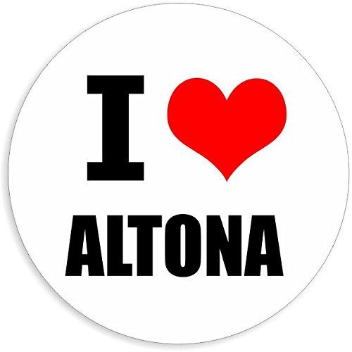 I love Altona in 2 Größen erhältlich Aufkleber mehrfarbig Sticker Decal