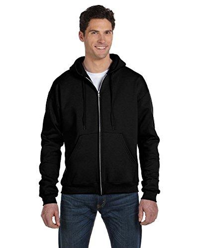Champion Adult 50/50 Full-Zip Hooded Sweatshirt, Black, XX-Large (50 Champion Sweatshirt Hooded)