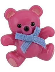 Crocs Clog Unisex Kinder Teddy Bear Card Ornament 3d, mehrfarbig (Fuchsia), Einheitsgröße