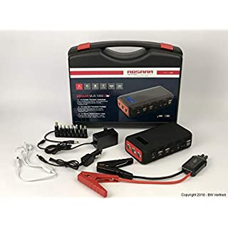 Absaar Autostarthilfe 18.000mAh 12V-Lithium-Starthilfegerät Powerbank Jump Starter - Gratis Lipo Safe Schutztasche