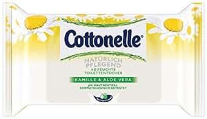 Cottonelle Feuchtes Toilettenpapier Natürlich Pflegend Nachfüllpack, 6er Pack (6 x 42 Tücher)