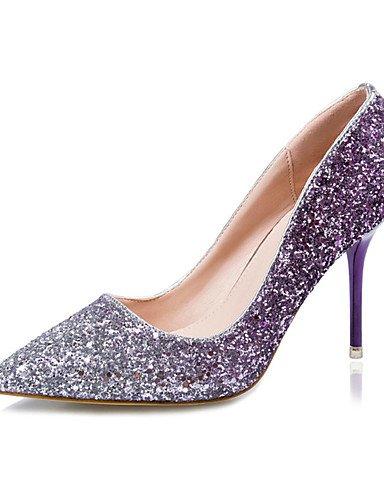 WSS 2016 Chaussures Femme-Décontracté-Bleu / Violet / Rouge / Or-Gros Talon-Talons-Talons-Laine synthétique golden-us8 / eu39 / uk6 / cn39