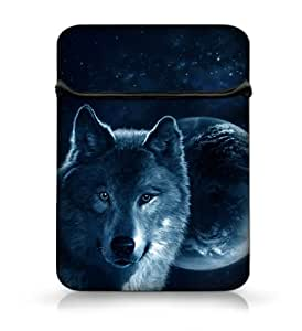 "Wolf Design à rabat pour ordinateur portable 25,4 cm 25,7 cm ""Housse pour Tablette Sac Housse pour Microsoft Surface Pro 2 & Surface 2 RT/Google Android/Asus Transformer Pad TF300/TF300T/Apple iPad 1, iPad 2, iPad 3, iPad 4, iPad 5, iPad Air, iPad/25,7 cm Dell Mini 10/HP Mini 110/210 Netbook/Samsung Galaxy Tab 2 Tablette 25,7 cm"