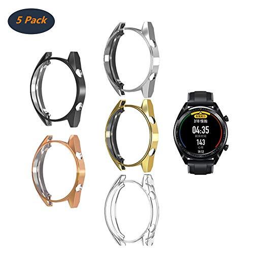 FOLOME - Custodia Protettiva Antiurto, Compatibile con Huawei Watch GT/Active 46 mm, in Morbido TPU Placcato [AntiGraffio]