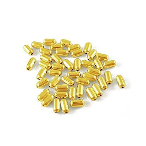 Pack of 600+ Golden Plated Iron 2.5 x 5mm Tube Spacer Beads - (HA07665) - Charming Beads