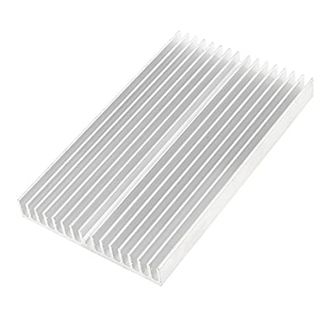 Radiateur - TOOGOO(R)d'argent alliage d'Aluminium Radiateur dissipateur 100 x 60 x 10mm