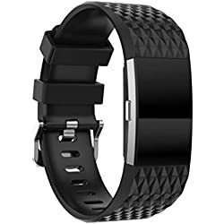 For Fitbit Charge 2 Replacement Band ,Fulltime(TM) Fashion Sports Silicone Bracelet Strap Band + HD Film For Fitbit Charge 2