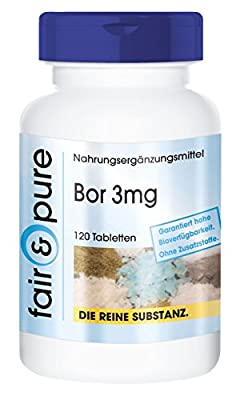 Boron 3 mg Sodium Tetraborate - In Pure Form - No Additives or Excipients - 120 Vegetarian Capsules by fair & pure