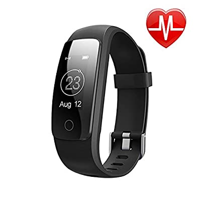 LETSCOM Fitness Tracker Bluetooth Smart Bracelet, Waterproof OLED Screen Smartwatch with Heart Rate Monitor Sleep Tracker Pedometer Smart Wristband Band by LETSCOM
