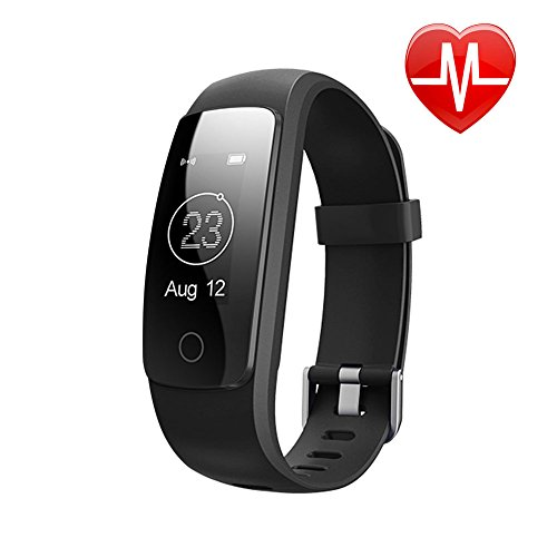 LETSCOM Fitness Tracker Bluetooth Smart Bracelet, Waterproof OLED Screen Smartwatch with Heart Rate Monitor Sleep Tracker Pedometer Smart Wristband Band