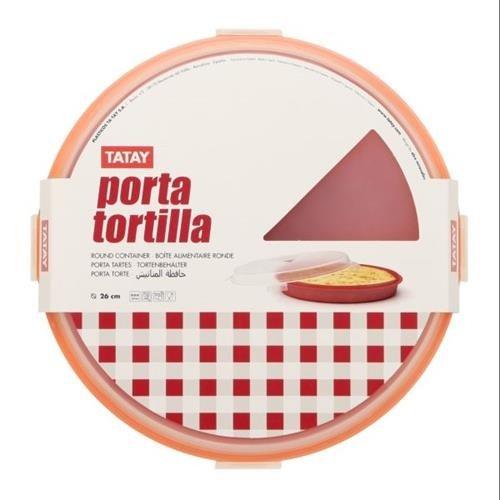 TATAY Portatortilla Apto para Lavavajillas, Congelador y Microondas, Libre de Bpa, Colores Surtidos