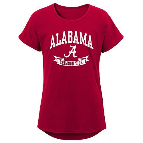 NCAA Alabama Crimson Tide Jugend Mädchen Kurze Ärmel Dolman Tee, Jugend Mädchen, Mädchen, K N8 47T7A 69-XL, Dunkles Marineblau, Youth Girls X-Large (16) -