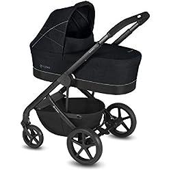 Cybex Balios S & Capazo S - Cochecito de bebé con bañera cot S, deporte y adaptador de asiento, Lavastone Black