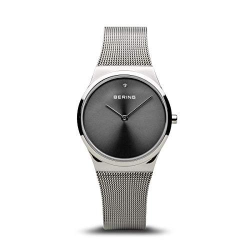 BERING Damen Analog Quarz Uhr mit Edelstahl Armband 12130-009