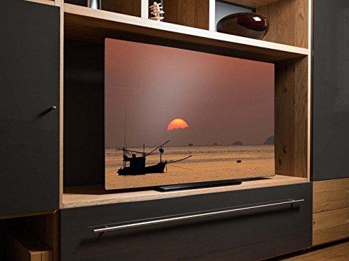 screencover - Abdeckung für Ihren Fernseher, alle Zollgrößen möglich, Material Hartschaum schwarz, mit Motiv Flapper Girl, Größe:62'' TV (150cm x (Girl Flapper Schwarzes)