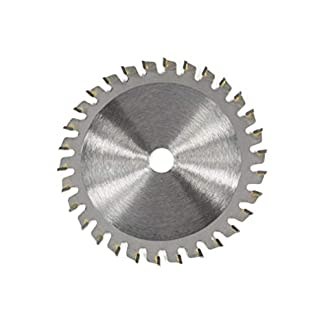 Leoboone TCT 30 dientes Hoja de sierra circular Discos de rueda TCT Aleación Carpintería Hoja de sierra multifuncional para cortar metal en madera 85x10MM