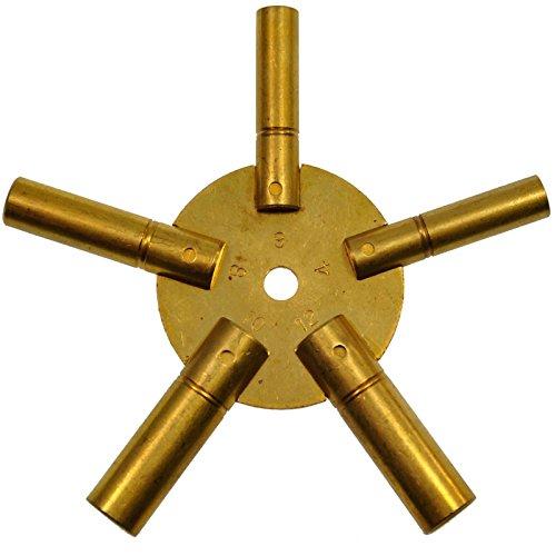 Sternschlüssel Gerade Nummern Aufziehschlüssel Großuhren Regulateure Kaminuhren