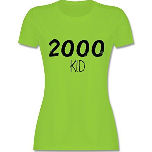 Shirtracer Geburtstag - 2000 Kid - Damen T-Shirt Rundhals Hellgrün