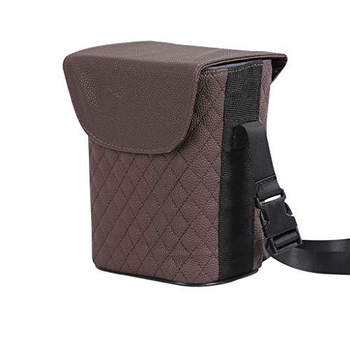 Trash can pattumiera- bidone della spazzatura dell'automobile, supporto interno lavabile smontabile, pattumiera impermeabile (colore : brown)