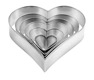 Heart-shaped cookie cutters DELÍCIA, 6 pcs