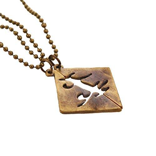 The Mortal Instruments Bronze dunkel parabatai Anhänger Halskette Set von 2