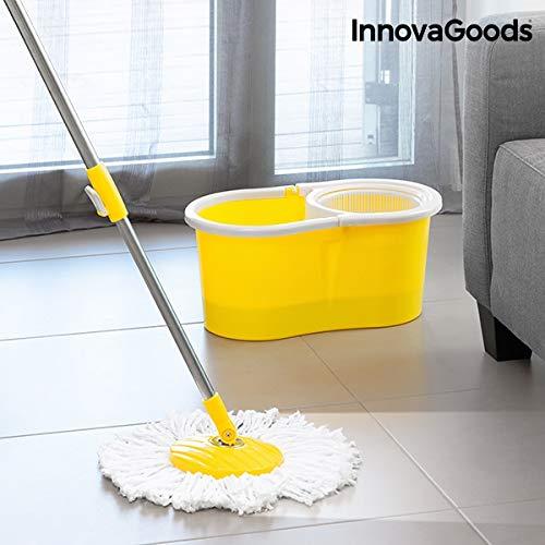 InnovaGoods Wischmop mit Eimer, drehbar, Gelb
