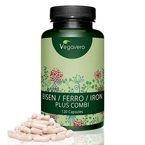 Hierro Plus Combi | Con Vitamina C + B12 + B2 + B6 + Ácido Fólico |