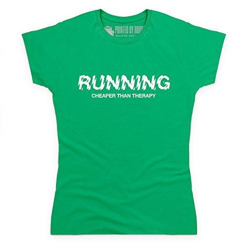 Cheaper Than Therapy T-Shirt, Damen Keltisch-Grn