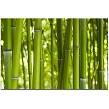 kunst-discounter Steine Bambus Wandbild A06203 Canvas Leinwandbild quadratisch auf Keilrahmen Gr/ö/ße 20 x 20 cm