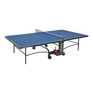 Garlando table de ping pong advance indoor avec roues pour int rieur bleu jeux et jouets - Roue pour table de ping pong ...