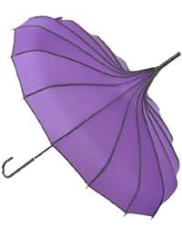 Topwedding preuve de vent parasol pagode, violet