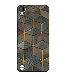 Digiarts Designer Back Case Cover for HTC Desire 530 (Zig Zag Cirlce Rectangle Square)
