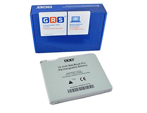 GRS Batterie pour Apple MacBook Pro 15 pouces remplace : A1175, MA348, MA463LL/A, nouveau modèle avec 60 Wh, Housse en aluminium