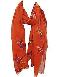 Large Soft Fashionable Hummingbird Bright Flying Birds Ladies Long Scarf, Shawl, Wrap, Sarong - by Fat-catz-copy-catz