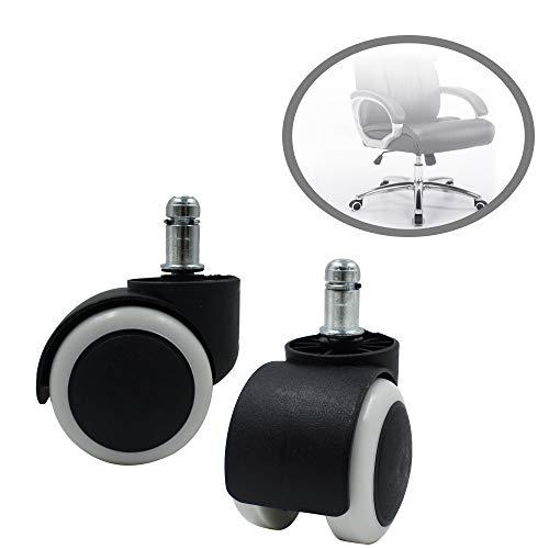 Alovexiong Universal-Rollen für Bürostuhl, 5 cm Durchmesser, strapazierfähig, drehbar, Ersatz für Bodenschutz, Gummi-Rollen, Rollstuhl, Rollen -