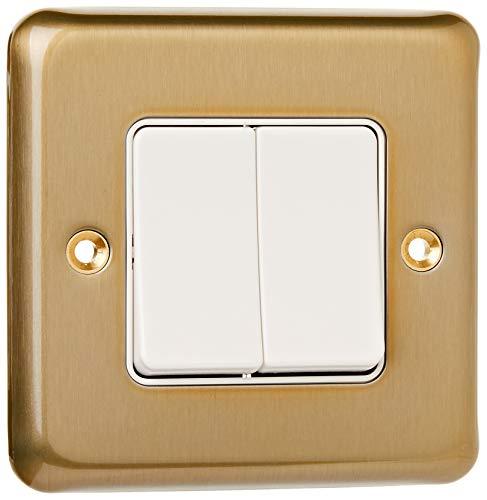 MK k4762sag 10eine doppelte breit Rocker Switch Single Pole-Satin Gold -