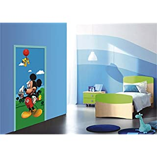 AG Design FTDv 0237  Mickey Mouse Disney, Papier Fototapete Kinderzimmer - 90x202 cm - 1 Teil, Papier, multicolor, 0,1 x 90 x 202 cm