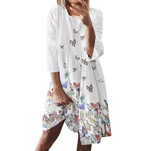 Maxikleid Damen Ärmellos Leinen Böhmischer Druck Sommerkleider Elegant Blumen Lang Kleid Strandkleid Nicht Stickerei(Schlüsselwörter) (1920 Kleid Für Verkauf)