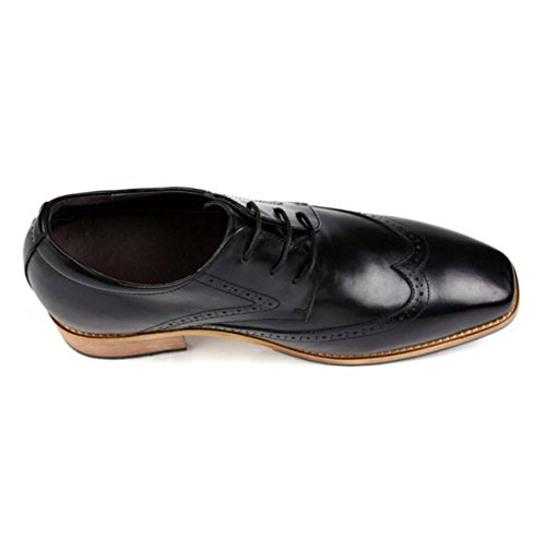 Scarpe Da Uomo Uomini Scarpe A Punta Inghilterra Scarpe Aumentate Scarpe Singole Da 8cm Abiti Scarpe Da Ginnastica Black