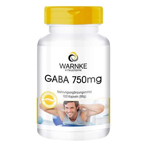 GABA 750mg Kapseln - 100 Kapseln - Gamma-Aminobuttersäure -