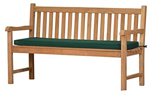 Grüne Bankauflage Kanaria - 170 x 47 cm |  Bank-Polster aus 100% strapazierfähigem Polyester  6 cm dickes bequemes Bankkissen  Polster-Auflage als Sitzpolster für Gartenmöbel & als...