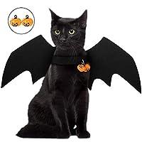 Description Voici une aile de chauve-souris mascotte Halloween.   Le matériau est en feutre noir. La texture est légère et le chat le porte sans restrictions.   Le produit entier est noir avec des lignes douces, qui interprète complètement la sensati...