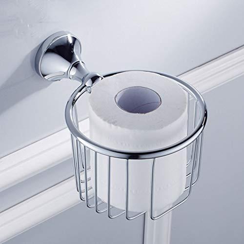 LUDSUY Badezimmer-Zubehör Badezimmer Toilettenpapierhalter Regal Shampoo Duschgel Korb-Halter-Speicher-Korb-Rack Chrom Gold Finished Regale, A - Chrom-speicher-korb