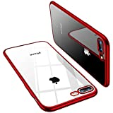 TORRAS Coque iPhone 8 Plus, Coque iPhone 7 Plus, Transparent Ultra fine Silicone...