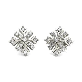 BlueStone 14K White Gold and Diamond Eirwen Earrings