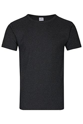 2er Pack Palleon kurze Herren 3/4 Thermo Unterhemden Anthrazit kurze Unterhemden