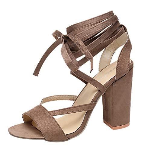 Wawer Neu Damen High Heels Plattform Gladiator Sandalen Sexy Party Schnür Stiefel Schuh Heel-plattform